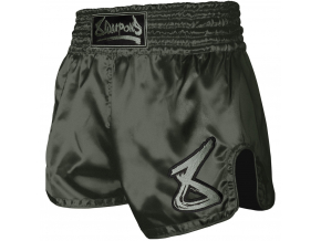 8 weapons muay thai shorts strike olive