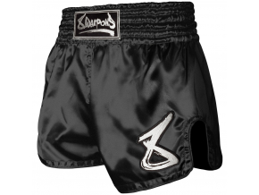 8 weapons muay thai shorts strike schwarz weiss