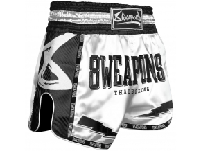 8 weapons muay thai shorts carbon snow night
