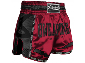 8 weapons muay thai short red dawn