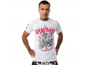8 weapons t shirt hanuman sak yant weiss