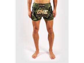 muay thai shorts venum xonefc khakigold 1