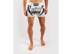muay thai shorts venum xonefc whitegold 1