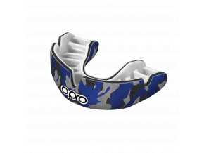 Chránič zubů Opro Power Fit Camo - černá/modrá/stříbrná