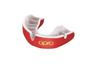 Chránič zubů Opro Gold - červená/bílá