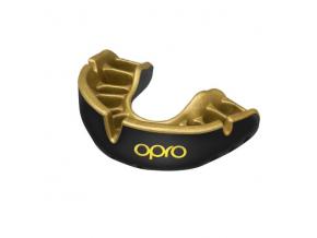 Chránič zubů Opro Gold Junior (do 11 let) - černá/zlatá