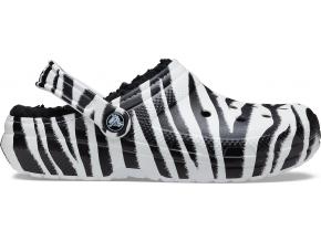 Crocs Classic Lined Animal Print Clg Black/Zebra Print