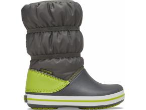 Crocs Crocband Winter Boot K Slate Grey/Lime Punch