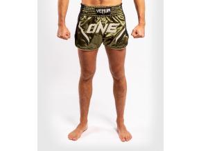 muay thai shorts venum onefc impact blackkhaki 1