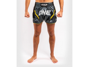 muay thai shorts venum onefc impact greyyellow 1
