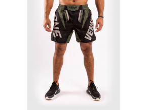 mma shorts venum onefc impact blackkhaki 1