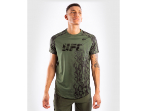 Pánské funkční triko s krátkým rukávem UFC Venum Authentic Fight Week Performance - Khaki (Velikost L)