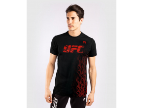 tshirt tricko short sleeve kratky rukav ufc venum authentic fight week mens panske black cerne f1