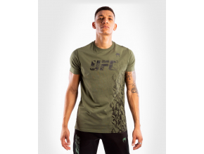 tshirt tricko short sleeve kratky rukav ufc venum authentic fight week khaki kaki f1