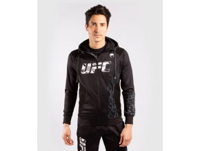 zip hoodie men´s panska mikina se zipem ufc venum authentic fight week black f1