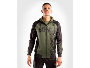 zip hoodie men´s panska mikina se zipem ufc venum authentic fight week khaki f1