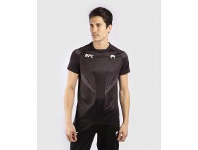 tshirt tricko mens panske ufc venum pro line jersey black cerne f1