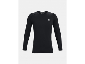 Kompresni triko dlouhy rukav under armour HG armour fitted LS blk f1