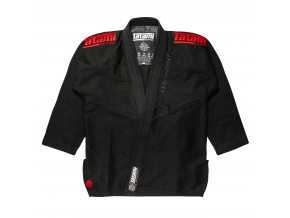 tatami black label white gi kimono bjj black red f1