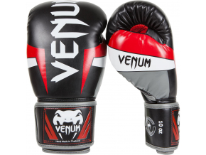 boxing gloves box venum elite black red grey f1