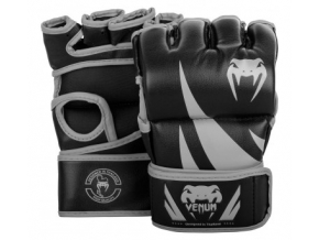 mma gloves challenger thumb black grey 1500 01