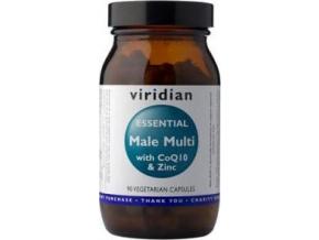 VIRIDIAN nutrition Essential Male Multi with CoQ10 a Zinc 90 kapslí
