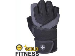 Harbinger Rukavice 125 WristWrap s omotávkou - černo-šedé