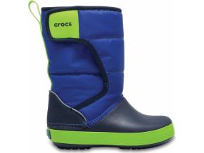 Crocs LodgePoint Snow Boot K Blue Jean/Navy