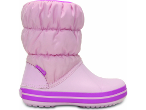 Crocs Winter Puff Boot Kids - Pink/Wild Orchid