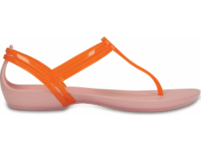 Crocs Isabella T-strap - Active Orange/Petal Pink