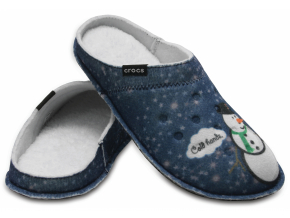 Crocs Classic Graphic Slipper - Navy