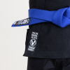 bjj gi kimono valor bravura classic plain modre cerne f6
