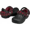 Crocs Kids Blitzen Lumber Jack Plaid  - Black/True Red