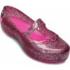 Crocs Carlisa Glitter Flat Girls Carnation/Neon Magenta