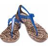 Crocs Isabella Graphic T-strap Blue Jean/Animal