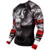 rashguard venum werewolf ls black grey fightexpert f2