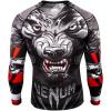 rashguard venum werewolf ls black grey fightexpert f3
