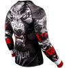 rashguard venum werewolf ls black grey fightexpert f4