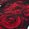 rashguard venum dragons flight black short red f6
