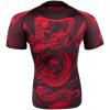 rashguard venum dragons flight black short red f4