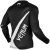 rashguard venum long sleeve contender4 black white f4