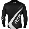 rashguard venum long sleeve contender4 black white f3