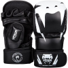 mma gloves rukavice venum sparring impact black white f1