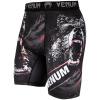 short venum mma compression grizzli black white f2