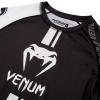 rashguard ss venum logos black white f5