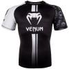 rashguard ss venum logos black white f1