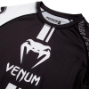 rashguard long venum logos black white f5