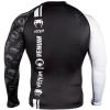 rashguard long venum logos black white f4