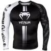 rashguard long venum logos black white f1