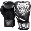 boxing gloves venum devil black white f3